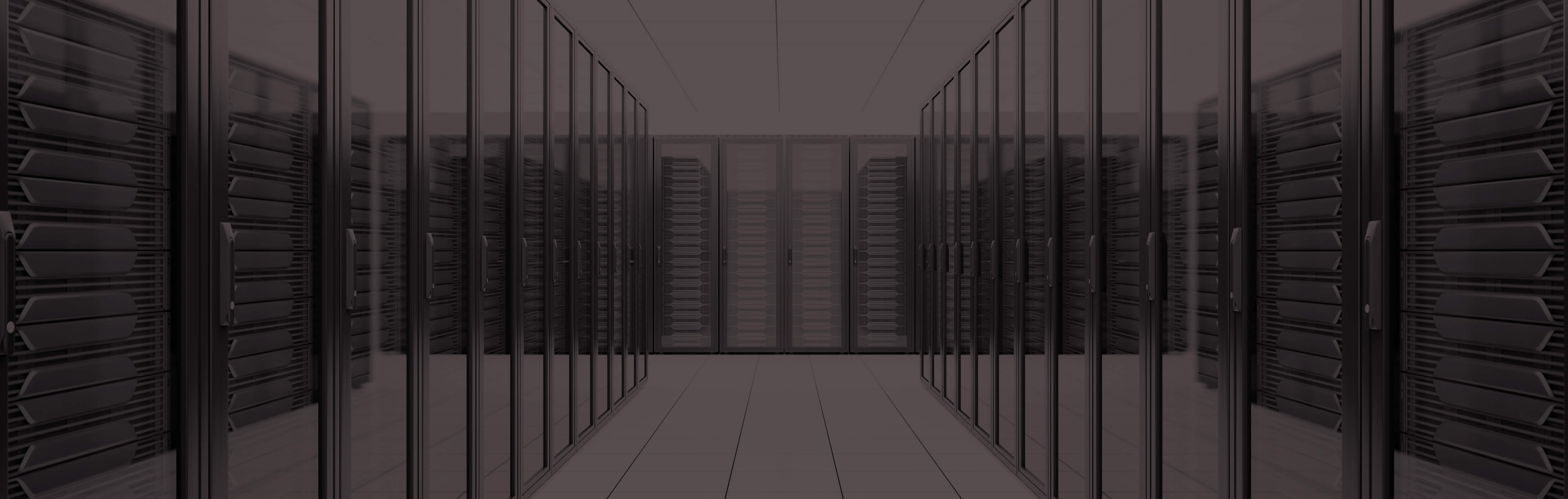 A row of servers, banner at the top of InnoScale's Data Centers page